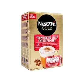 NESCAFÉ Gold Decaffeinated Cappuccino Soluble Coffee 10 Envelopes