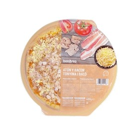 Fresh Tuna and Bacon Pizza BonÀrea 420 g