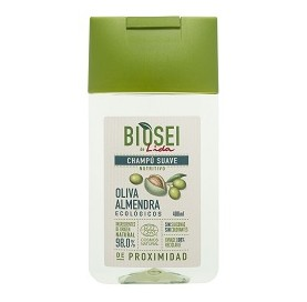 Sanft pflegendes Oliven-Mandel-Shampoo BIOSEI 400 ml