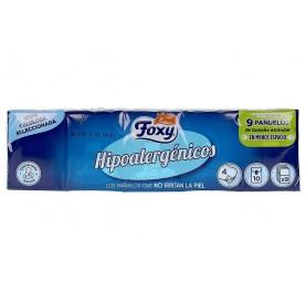 Foxy Hypoallergenic Handkerchiefs Pack 10